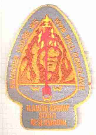 USA_Flaming_arrow_scout_reservation_titre_epaule_tissu_b